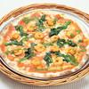 ピッツェリア - 料理写真:エビと菜の花のトマトクリームピッツァ