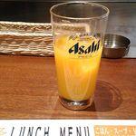 わっはっはっ風月 - 飲み放題のオレンジジュース(セルフサービス)