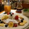 ザ スマイル - 料理写真:パンケーキwithミックスフルーツ&ホイップクリーム