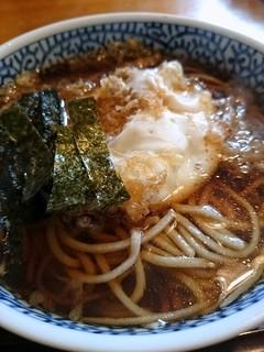そば処 古楽 - 【2015/03】卵天ぷらそば 850円