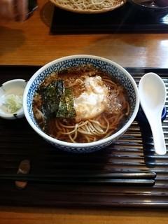 そば処 古楽 - 卵天ぷらそば 850円
