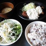 しゃぶしゃぶ剛 - タルタル鶏唐揚げ定食
