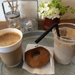 nicoドーナツ - 雑穀コーヒーセットは500円、単品の雑穀コーヒーオレは400円