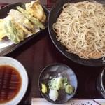 まつ浅 - 天せいろ(海老野菜)¥1680