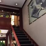 アルプス洋菓子店 - 店内  2階へ上がる階段