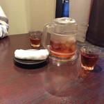 小樽食堂 - 麦茶美味しい♪