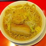麺屋 あっ晴れ - ラーメン(3ばか、野菜以外全マシ)