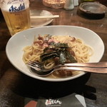 ぴえもん - 和風きの子とベーコンのパスタ&生ビール2015.4.30