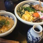 讃岐うどん 雅流 - 具沢山ぶっかけ+ミニ玉子丼 750円+310円