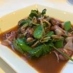 チャイニーズ 芹菜 - ④ホタルイカとスナップエンドウの湯引き 葱生姜和え