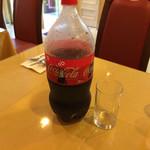 ナーン イン - ビリヤニに付くドリンクにコーラを選択したらこれが出てきました