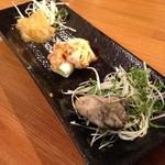 テイスティングバー 柴田屋酒店 - 日本酒に合う三種盛り