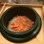 37700950 - 御食事                       桜鱒と新生姜のご飯