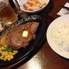 ビッグテキサス - 料理写真:ステーキ、ライス、ビール