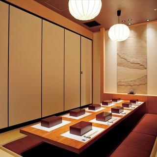 御人数様に合わせた完全個室をご用意致しております。