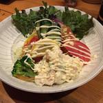 Japanese Dining ゑびすダイニング - スペシャルえびすサラダ(ハーフ)