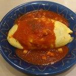 ポムの樹 - 料理写真:モッツァレラチーズ トマトソース オムライス