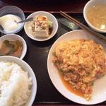 37788561 - ランチ:定食A(かに肉と卵の炒め)