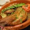 トラットリア オッティモ - 料理写真:アスパラ羊と野菜のテラコッタ焼き