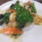 中華料理紅蘭 - Aランチのミニ中華丼