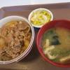 すき家 - 料理写真:牛丼ミニ¥290+おしんこセット¥120