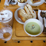 37817318 - サンドウィッチのセット(スープ&ドリンク付き)¥830