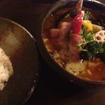 37832367 - ベーコンとソーセージと野菜のスープカレー