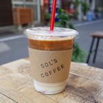 ソルズコーヒー - アイスカフェラテ(430円)