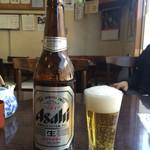 勉強亭 - ビール大瓶