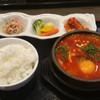 来来家 - 料理写真:ホルモンミックスチゲ定食950円