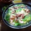 蔵王 手打ちそば 新楽 - 料理写真:鴨そば1,100円(キャベツ)