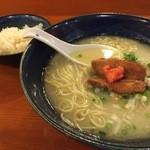 鳥料理 有明 - 軍鶏水炊きらーめん&鶏だし炊き込み御飯