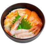 海鮮丼の浦島 - 【ズワイカニ・サーモン・甘えび丼】