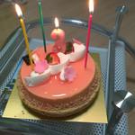 新宿高野 - 桜のケーキ