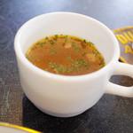 ポートマンズカフェ - 週末デリプレート(1150円)のスープ。とても美味しい。