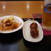 林檎の湯屋おぶー - 料理写真:海老唐~つくね~ビール~☆