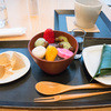 不室屋カフェ - 料理写真:甘味三種とお茶(1,296円)