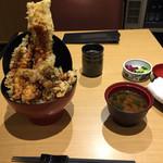 天喜代 - 大江戸天丼‼︎そびえ立つ穴子‼︎