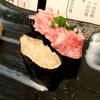 立ち喰い寿司 彩り亭 - 料理写真:軍艦です(*^^)ねぎとろとカニみそ。