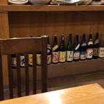 和彩料理やまなか - 店内の日本酒