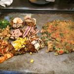 お好み焼き・鉄板焼 ぼんくら家 - プチ焼き9種+ネギ焼き