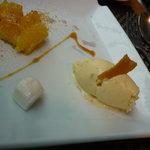 フランス食堂 フーヴェール - 生姜のアイスクリーム