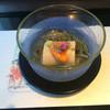 京懐石 美濃吉 - 料理写真:胡麻豆腐 蓴菜餡掛け 雲丹のせ