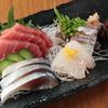 たけ美 - 料理写真:旬の新鮮な魚を刺身四点盛りで!