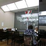 """深川 伊勢屋 - """"纏""""の粋な絵、深川らしい店内です"""