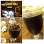 カフェ マルゴ - アイスコーヒー(570円)・・珈琲専門店のアイスコーヒーは深煎りですから美味しいですね。