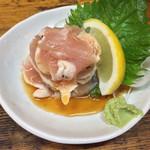 とり市 - 「鶏たたきぽん酢」500円