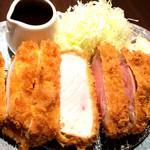 洋食かつ 兎 - 銘柄豚「松阪ポーク」の厚切ロースカツ