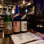 洋楽いし井 - 3人でいただいた日本酒~①