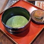 ポン ムヴァン - 和菓子付き抹茶(500円)2015年5月
